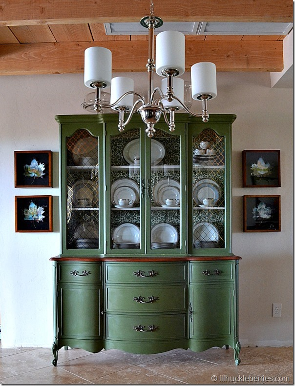 Painted china cabinet 509 design What can i put on my sideboard
